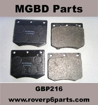 BRAKE PADS for the front later Girling Type Calipers on a Rover P6 2000 or 2200 (1970 - 1977)