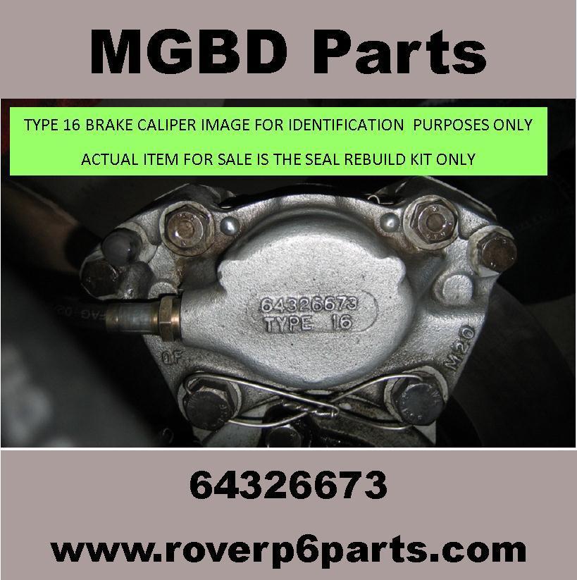 Brake Repair Shops >> TYPE 16 GIRLING BRAKE CALIPER REBUILD SEAL KIT (AXLE SET ...