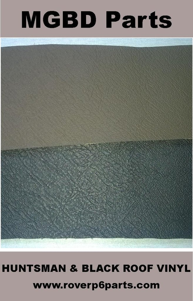 Huntsman brown vinyl roof covering material rover p6 for Roof covering materials