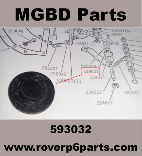 RUBBER CUSHION FOR REAR ENGINE MOUNTING 2000 2200 NEW MOULDING MADE IN BRITAIN