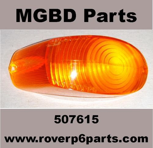 FLASHER LIGHT LENS AMBER RIGHT HAND SIDE ROVER P5, P5B
