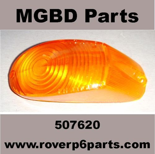 FLASHER LIGHT LENS AMBER LEFT HAND SIDE ROVER P5, P5B