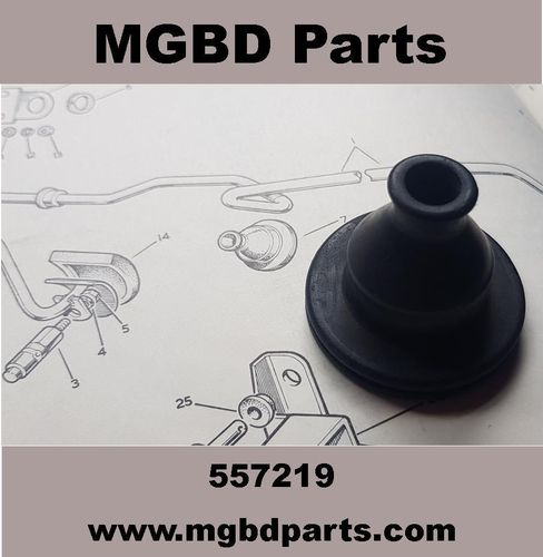 GROMMET FOR CROSS SHAFT ACCELERATOR RHD [NEW MGBD MOULDING] MADE IN BRITAIN